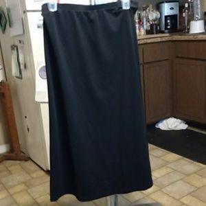 Women's black long skirt
